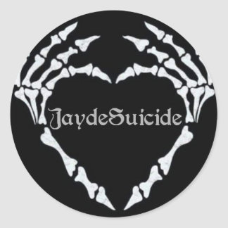Jayde Suicide Logo Classic Round Sticker