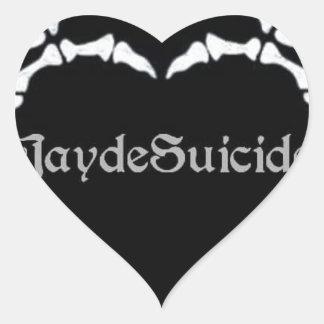 Jayde Suicide Logo Heart Sticker