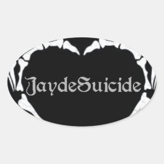 Jayde Suicide Logo Oval Sticker