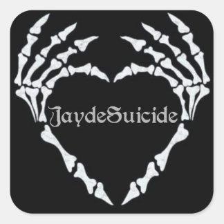 Jayde Suicide Logo Square Sticker