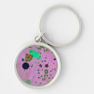Jayden's Universe in purple Silver-Colored Round Keychain