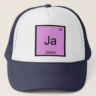 Jazlyn  Name Chemistry Element Periodic Table Trucker Hat