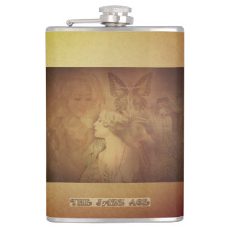 Jazz Age Antics Hip Flask