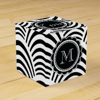 Jazz Age Art Deco Elegance Black and White Favor Box