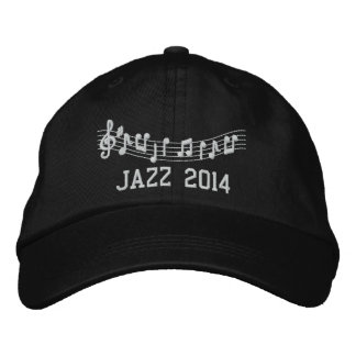 Jazz Band 2014 Embroidered Music Hat
