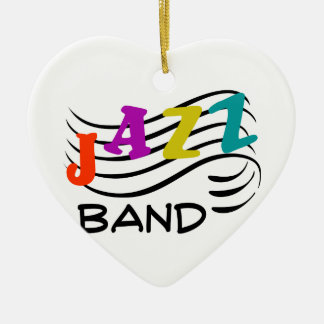 Jazz Band Ceramic Heart Ornament