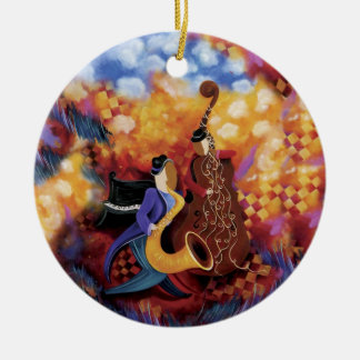 Jazz Band Colorful Music Ornament