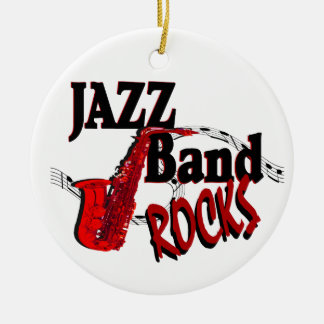 Jazz Band Rocks with Photo Ceramic Ornament