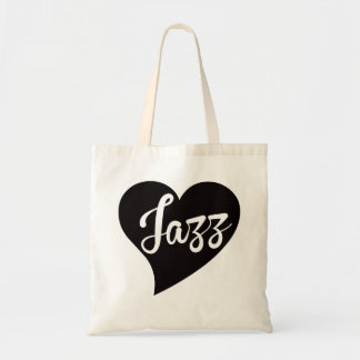 Jazz Big Heart Jade Tote Bag