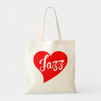 Jazz Big Heart Tote Bag