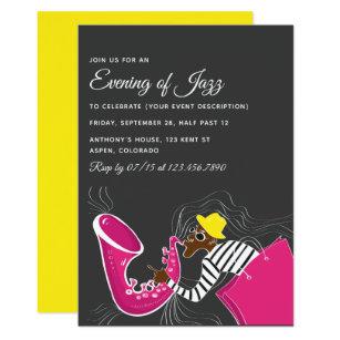 Jazz Party Themes Invitations Stationery Zazzle Ca