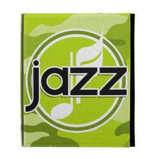 Jazz bright green camo camouflage iPad folio cover
