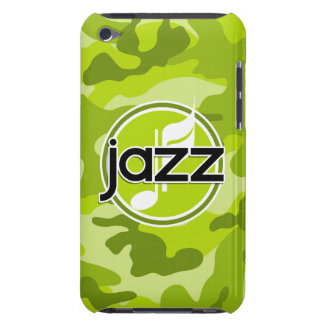 Jazz bright green camo camouflage barely there iPod case