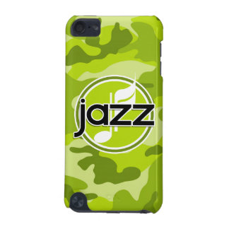 Jazz bright green camo camouflage iPod touch (5th generation) cases