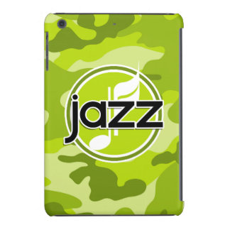 Jazz; bright green camo, camouflage iPad mini retina cover