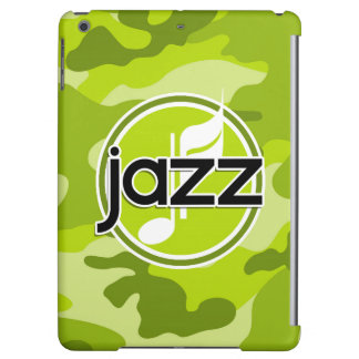 Jazz bright green camo camouflage iPad air covers