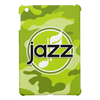 Jazz bright green camo camouflage iPad mini cover