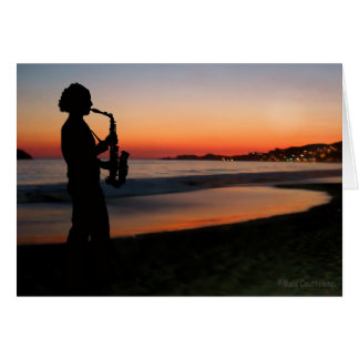 Jazz by the Sunset Card