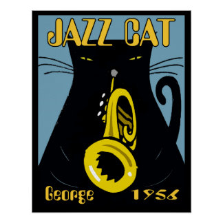 Jazz Cat George 1956 Poster