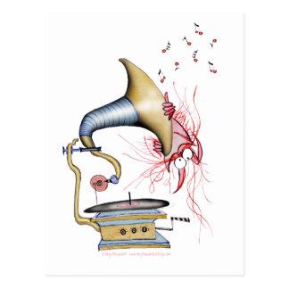 jazz cat music, tony fernandes postcard
