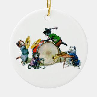 Jazz Cats Ceramic Ornament