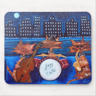 Jazz Cats Mouse Pad