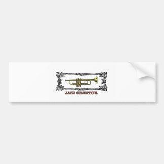 jazz creator frame bumper sticker