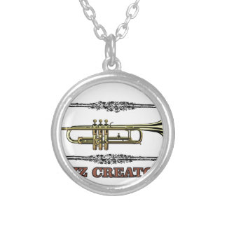 jazz creator frame silver plated necklace