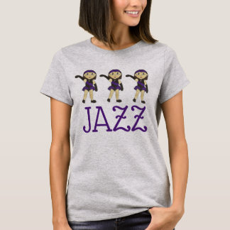Jazz Dance Recital Purple Costume Girl Dancer T-Shirt