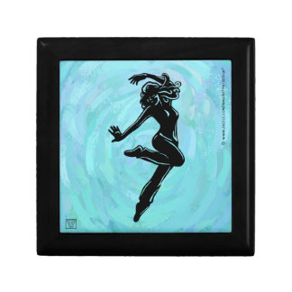 Jazz Dancer on Light Blue Gift Box