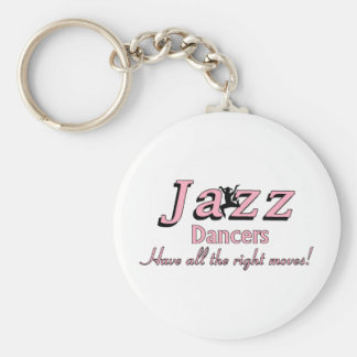 Jazz Dancers Have all the Right Moves Basic Round Button Keychain