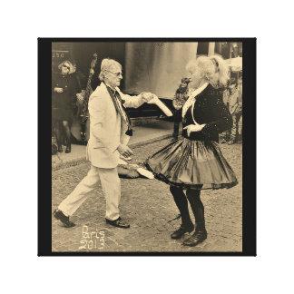 Jazz dancing in Rue Mouffetard Paris Canvas Print