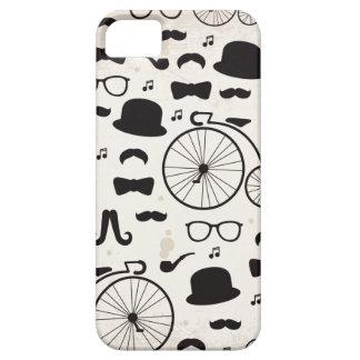 jazz de moustache de geek de hippie iPhone 5 case