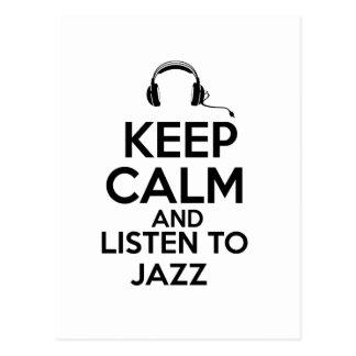 jazz design postcard
