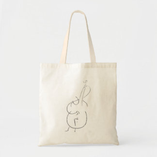 Jazz Double Bass Tote Bag