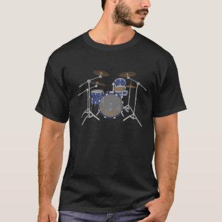 Jazz Drum Kit - Custom Blue Finish - T-Shirt