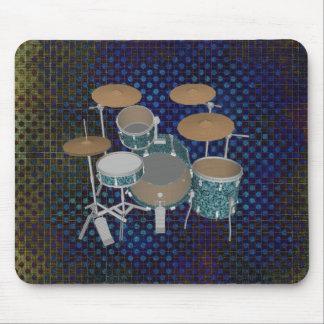Jazz Drum Kit - Custom Green Drums - Mousepad