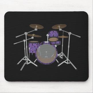 Jazz Drum Kit - Custom Violet Drums - Mousepad