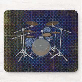Jazz Drum Set - Custom Blue Drums - Mousepad