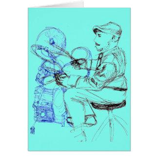 Jazz Drummer Musician Card