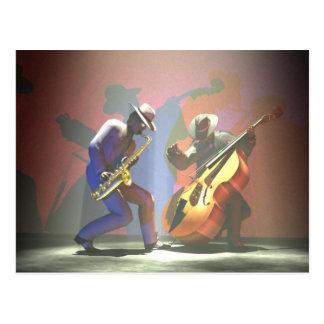 Jazz Duel Postcard