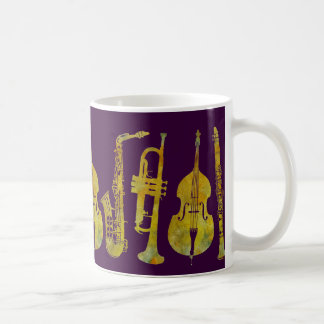 Jazz Ensemble in Gold Coffee Mug