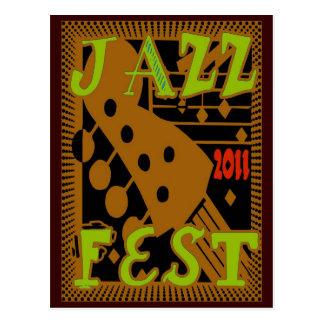 Jazz Fest 2011 Guitar Postcard