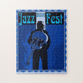 Jazz Fest Abstract Musical Instraments Jigsaw Puzzle