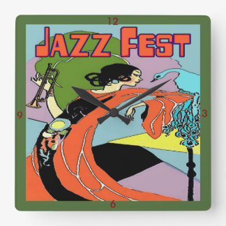 Jazz Fest Art Decco Clock