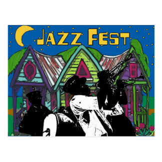 Jazz Fest Brass Band Postcard