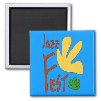 Jazz Fest Leaves 1 Magnet