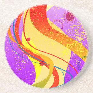 Jazz Fleck Background Coaster