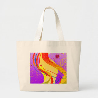 Jazz Fleck Background Large Tote Bag