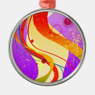 Jazz Fleck Background Metal Ornament